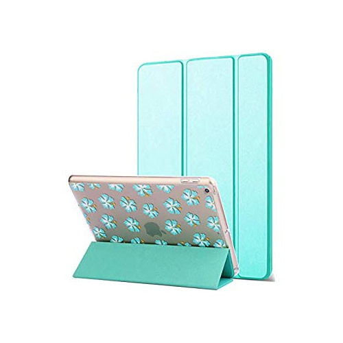 Dailylux New iPad 2017 Case Slim Smart Folio Stand Cover Transparent PC back shockproof Soft TPU Bumper Edge Corner Protection