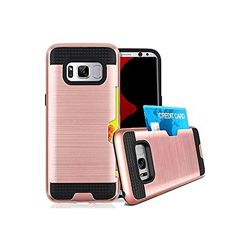 Galaxy S8 Plus Case / Galaxy S8+ Card Holder Case, Jwest Slim Dual Layer Wallet Design and Card Slot Holder Flexible Inner Pro