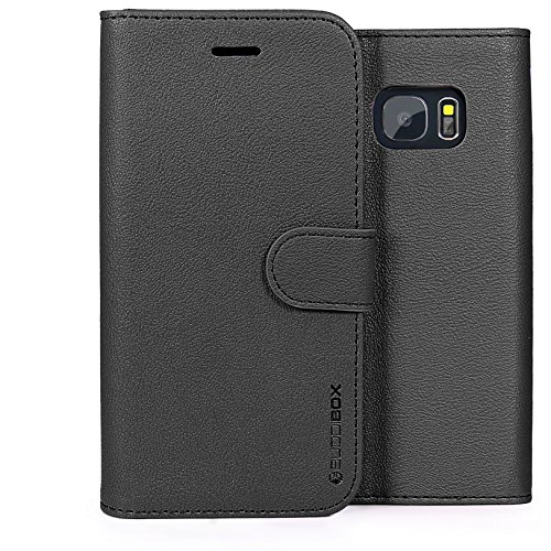 Galaxy S7 Case, BUDDIBOX [Wallet Case] Premium PU Leather Wallet Case with [Kickstand] Card Holder and ID Slot for Samsung S7,