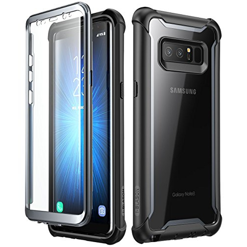 Samsung Galaxy Note 8 case, i-Blason Full-body Rugged Clear Bumper Case with Built-in Screen Protector for Samsung Galaxy Note