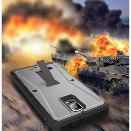 Galaxy Note 4 Case, Cocomii Tank Armor NEW [Heavy Duty] Premium Built-in Screen Protector Kickstand Dustproof Shockproof Bumpe