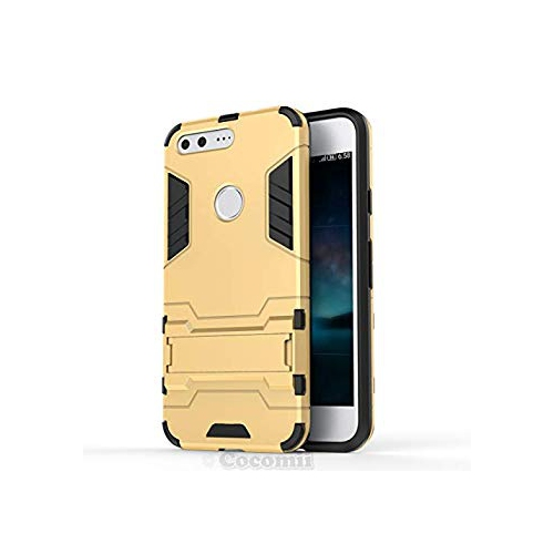 Google Pixel XL Case, Cocomii Iron Man Armor NEW [Heavy Duty] Premium Tactical Grip Kickstand Shockproof Hard Bumper Shell [Mi