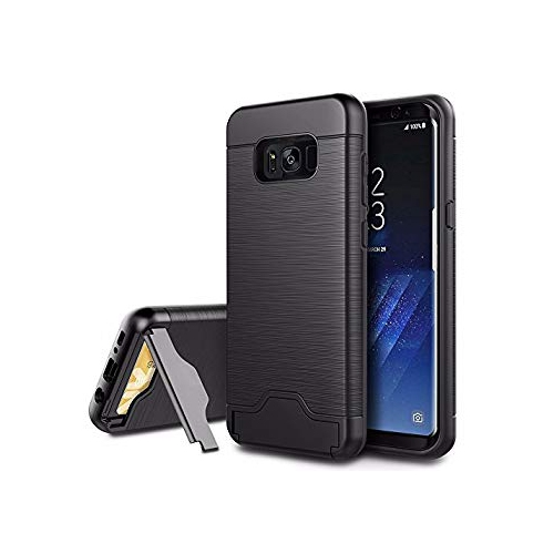 Samsung Galaxy S8 Plus Case, EasyAcc Shockproof Slim Fit Dual Layer Protection Hybrid Cover with Kickstand and Card Slot Holde