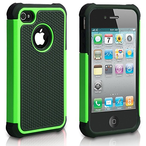 iPhone 4S Case, iPhone 4 Case, CHTech Fashion Shockproof Durable Hybrid Dual Layer Armor Defender Protective Case Cover for Ap