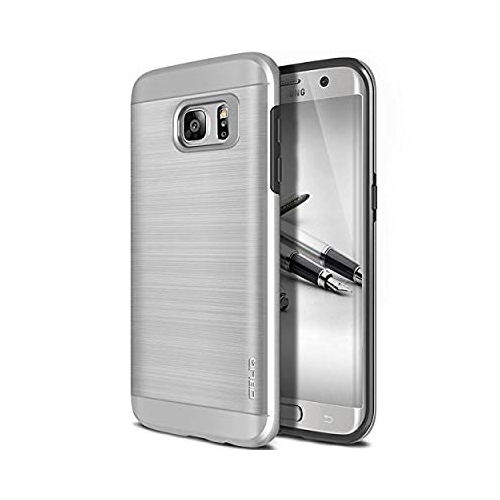 Obliq Fitted Hard Shell Case for Samsung Galaxy S7 Edge - Silver