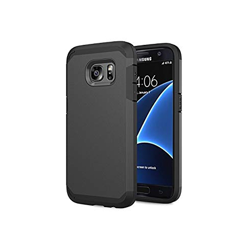 Galaxy S7 Case - MoKo [Scratch Resistant] Armor Series Dual Layer Protection - Bumper Cover for Samsung Galaxy S7 5.1 Inch Sma