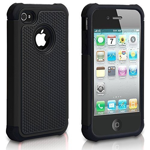 Chtech Fitted Hard Shell Case for iPhone 4S;iPhone 4 - Black