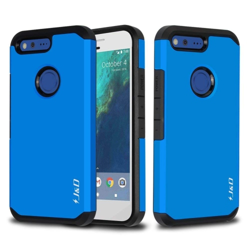 Google Pixel Case, J&D [ArmorBox] [Dual Layer] Hybrid Shock Proof Protective Rugged Case for Google Pixel - Mint