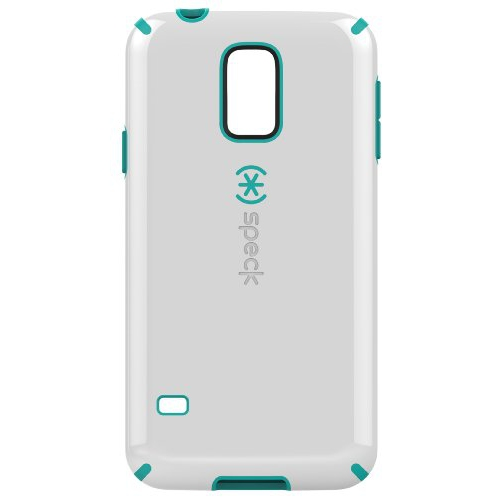 Speck Products Samsung Galaxy S5 CandyShell Case-Retail Packaging, White/Caribbean Blue