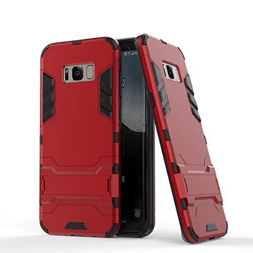 Cocomii Iron Man Armor Galaxy S8 Case New [Heavy Duty] Premium Tactical Grip Kickstand Shockproof Hard Bumper Shell [Military