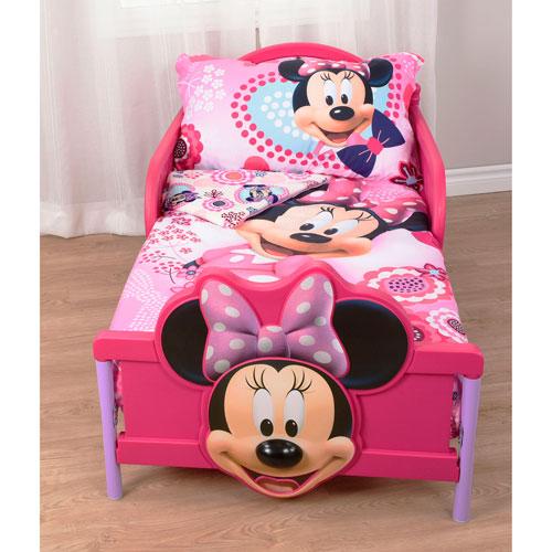 Ensemble De Draps De 3 Pieces Minnie Mouse De Disney Jeune Enfant