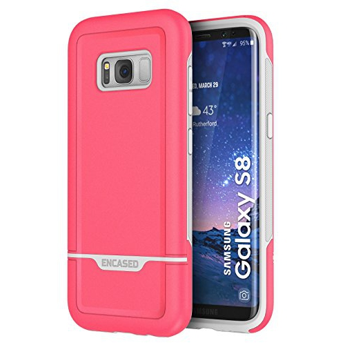 "Galaxy S8 Case Protective, Dual Layer Impact Armor - Rebel Series By Encased (Samsung Galaxy S8 5.8"")(Rose Pink)"