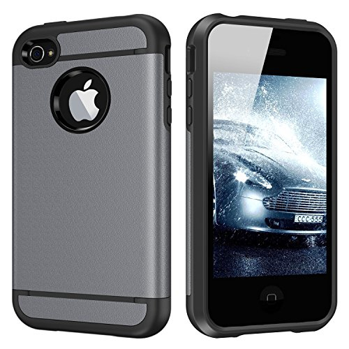 iPhone 4S Case, iPhone 4 Case, CHTech Fashion Double Layer Heavy Duty Protection Scratch Proof Armor Case Cover for Apple iPho