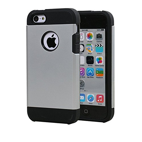 Iphone 4 /4s case Protective Hard Case with Magnetic Force For Nochoice Magnetic Cradle-less Mount For Iphone 4/4s (Silver)