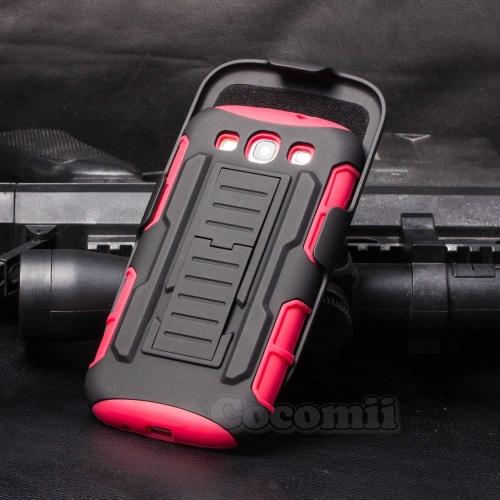 Galaxy S3 Case, Cocomii Robot Armor NEW [Heavy Duty] Premium Belt Clip Holster Kickstand Shockproof Hard Bumper Shell [Militar