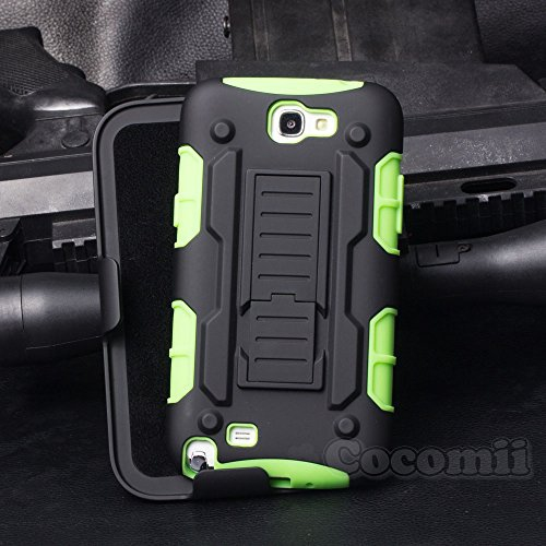 Galaxy Note 2 Case, Cocomii Robot Armor NEW [Heavy Duty] Premium Belt Clip Holster Kickstand Shockproof Hard Bumper Shell [Mil