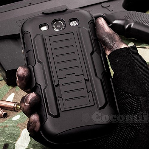 Galaxy S3 Case, Cocomii Robot Armor NEW [Heavy Duty] Premium Belt Clip Holster Kickstand Shockproof Hard Bumper Shell [Militar