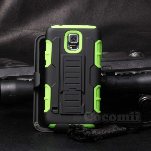 Galaxy S5 Active Case, Cocomii Robot Armor NEW [Heavy Duty] Premium Belt Clip Holster Kickstand Shockproof Hard Bumper Shell [