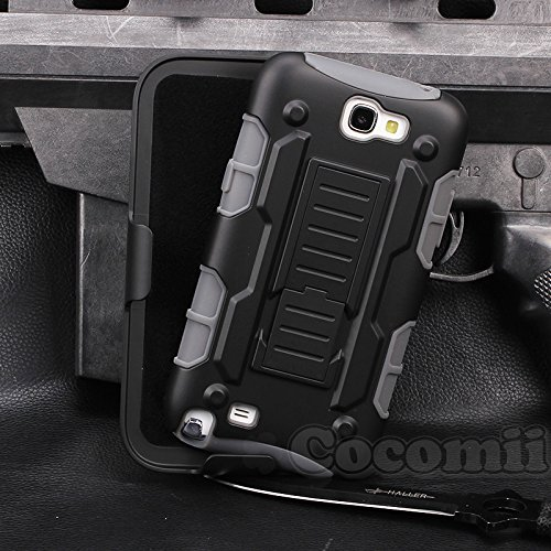 Galaxy Note 2 Case, Cocomii Robot Armor NEW [Heavy Duty] Premium Belt Clip Holster Kickstand Shockproof Hard Bumper Shell [Mil