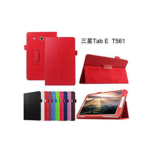"""Samsung Galaxy Tab E 9.6 Case,Mama Mouth PU Leather Folio 2-folding Stand Cover with Stylus Holder for 9.6"""" Samsung Galaxy Tab"""