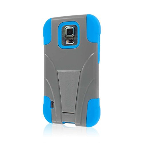 Empire MPERO IMPACT X Series Kickstand Case for Samsung Galaxy S5 Active / GS5 Active - Retail Packaging - Blue Gray