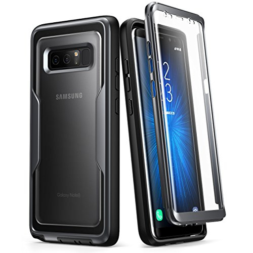 i-Blason Galaxy Note 8 Case, [Heavy Duty Protection] [Clear Back] [Magma Series] Shock Reduction / Full body Bumper Case with