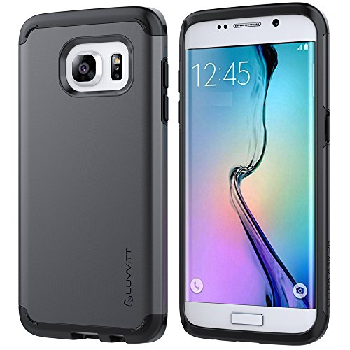 Luvvitt Fitted Hard Shell Case for Samsung Galaxy S7 Edge - Gunmetal;Black