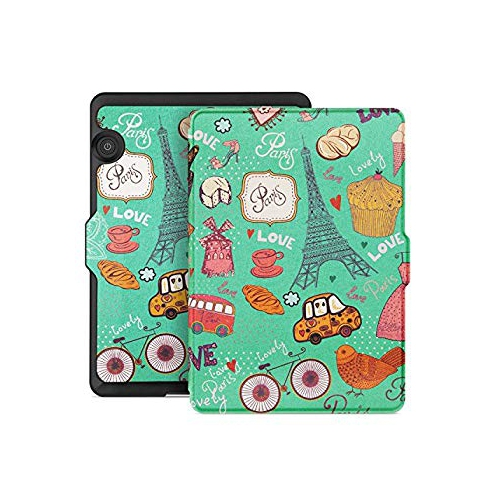 Ayotu Case for Kindle Voyage E-reader Auto Wake and Sleep Smart Protective Cover For 2014 Kindle Voyage Case Painting Series