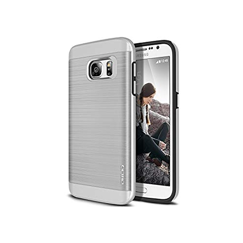 Galaxy S7 Case, OBLIQ [Slim Meta][Satin Silver] Slim Fit Premium Dual Layer Protection Case with Metallic Brush Finish Back wi