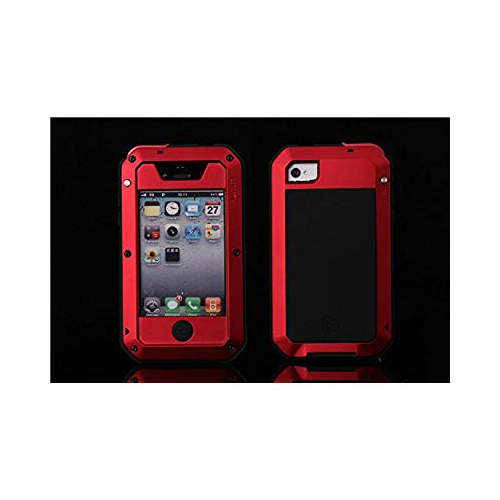 FOME iPhone 4 Case, Waterproof Shockproof Dust/Dirt Proof Aluminum Metal Military Heavy Duty Protection Cover Case for Apple i