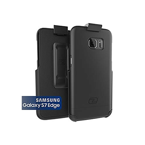 Samsung Galaxy S7 EDGE Case, Encased? Ultra-thin [SlimSHIELD] Case & Belt Clip Holster (2016) Ultimate Style + Protection (Smo