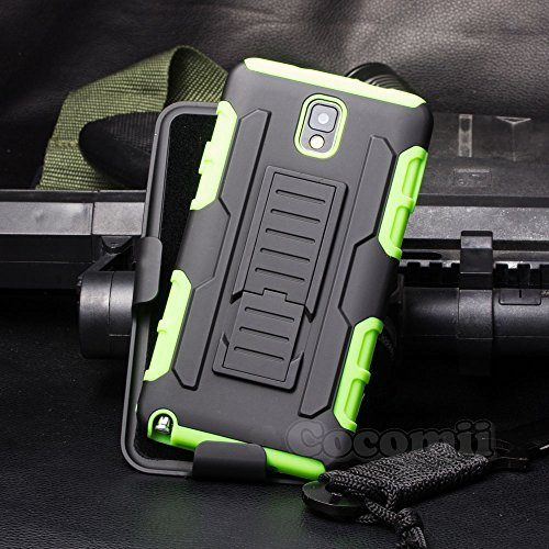 Galaxy Note 3 Case, Cocomii Robot Armor NEW [Heavy Duty] Premium Belt Clip Holster Kickstand Shockproof Hard Bumper Shell [Mil