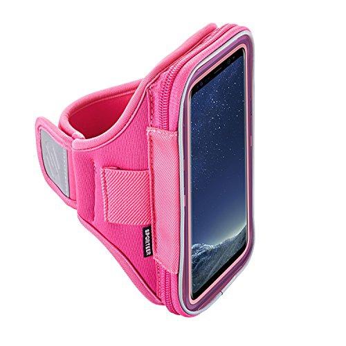 Sporteer Velocity V7 Armband for iPhone 7 Plus, 6S Plus, Google Pixel XL, Galaxy S8 Plus, S7 Edge, S6 Edge +, Note 5, Moto G4