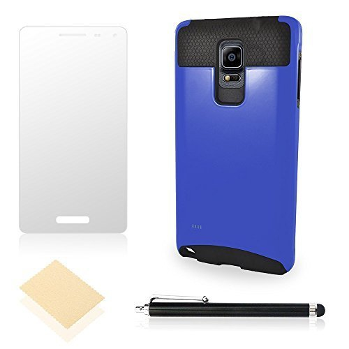 Case Cover For Woman Samsung Galaxy Note 4 [Screen Protector + Pen] Hybrid Dual Layer [Rubber Plastic] Hard Drop Protection [2