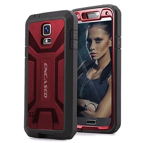 Original eXtreme ARMOR Case w/ Screen Guard For Samsung Galaxy S5 - Red (Encased® Lifetime Warranty)