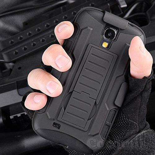 Galaxy S4 Case, Cocomii Robot Armor NEW [Heavy Duty] Premium Belt Clip Holster Kickstand Shockproof Hard Bumper Shell [Militar