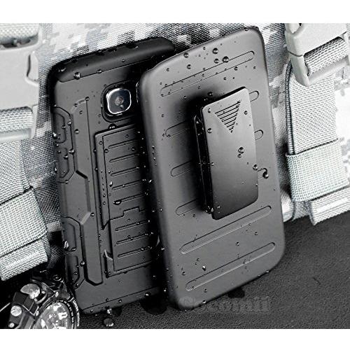 Galaxy S6 Case, Cocomii Robot Armor NEW [Heavy Duty] Premium Belt Clip Holster Kickstand Shockproof Hard Bumper Shell [Militar
