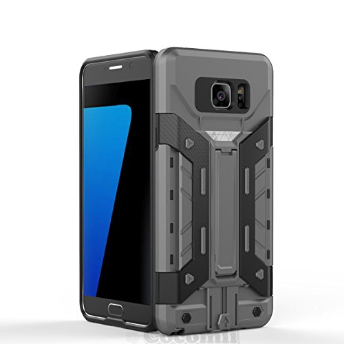 Galaxy Note 5 Case, Cocomii Transformer Armor NEW [Heavy Duty] Premium Built-in Multi Card Holder Kickstand Shockproof Hard Bu