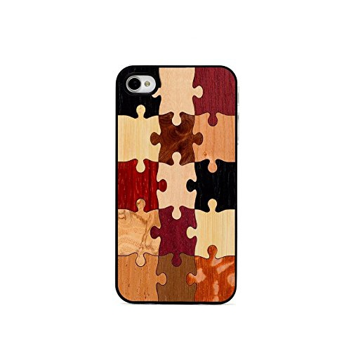 CARVED Clear Wood Case for iPhone 4/4S - Random Puzzle (CC1-P-SOLID)