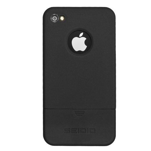 Seidio CSRSIPH4-BK Surface Reveal Case for Apple iPhone 4/4S, 1-Pack (Black)
