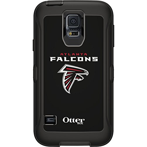 OtterBox Defender Case for Samsung GALAXY S5 - Retail Packaging - NFL Falcons (Black, Atlanta Falcons NFL Logo)