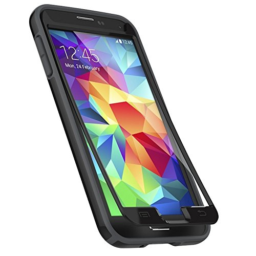 Speck Products CandyShell Plus FACEPLATE Case with Screen Protector for Samsung Galaxy S5 - Black/Slate Grey