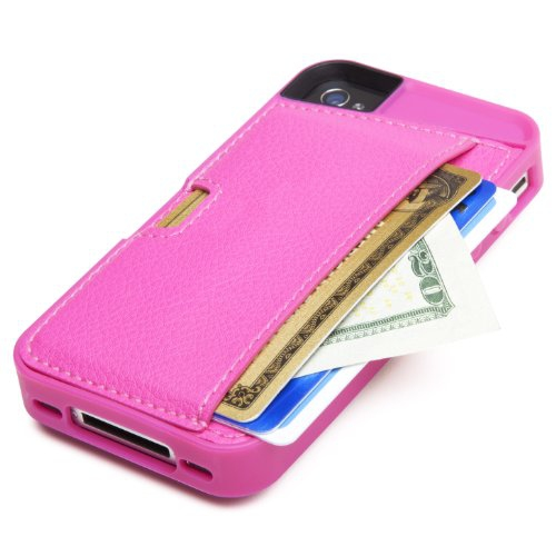 CM4 Q4-PINK Q Card Case Wallet for Apple iPhone 4/4S 1-Pack Retail-Packaging, Pink Sapphire
