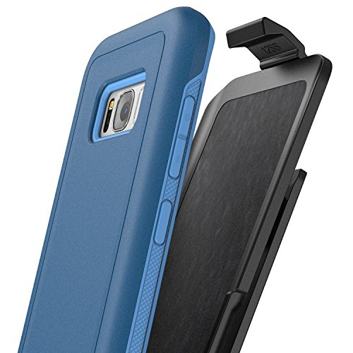 "Galaxy S8 Belt Clip Case Protective Impact Armor w/ Secure-fit Holster - Rebel Series By Encased (Samsung Galaxy S8 5.8"") (Nav"