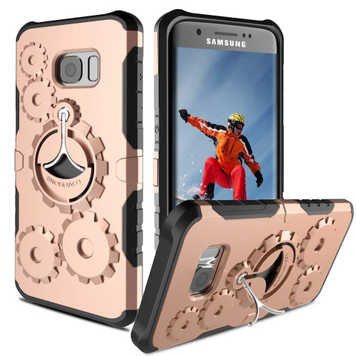 Galaxy S7 Edge Case, DODOTECH S7 Edge Kickstand Case Dual Layer Shockproof Heavy Duty Full Protective Cover for Samsung Galaxy