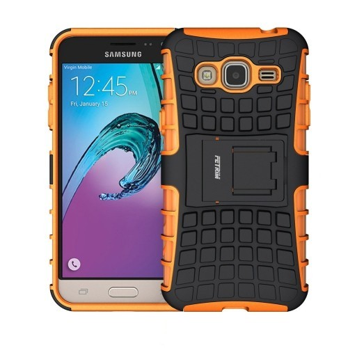 Case for Samsung Galaxy J3 2016 ,Fetrim Rugged Dual Layer Shockproof TPU Case Protective Cover for Samsung Galaxy J3 2016 with