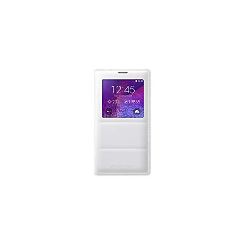 Samsung Galaxy Note 4 S-View Flip Cover, Retail Packaging, Frost White