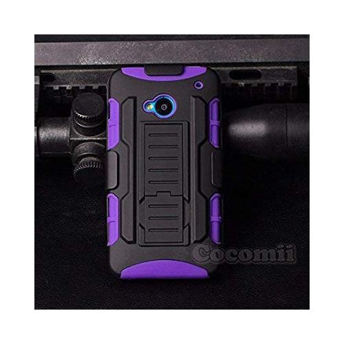 HTC One M7 Case, Cocomii Robot Armor NEW [Heavy Duty] Premium Belt Clip Holster Kickstand Shockproof Hard Bumper Shell [Milita
