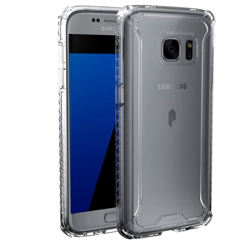 Poetic Cases Affinity Slim Fit Dual Material Protective Bumper Case for Samsung Galaxy S7, Clear