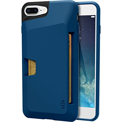 Silk Iphone 7 Plus Wallet Case Vault Slim Wallet For Iphone 7 Protective Grip Card Case Blue Jade Best Buy Canada